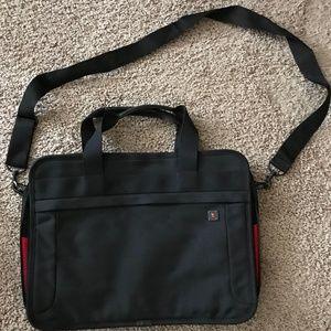 Victorinox Black Slimline Messenger Bag Briefcase